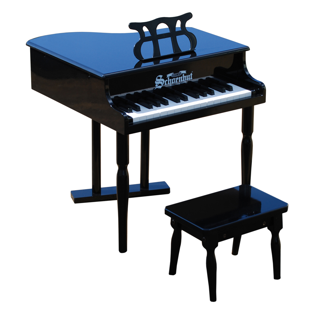Schoenhut Piano Company Inc Kids Children Musical Instrument 30 Key Classic Baby Grand Piano Play Toy Black at Sears.com