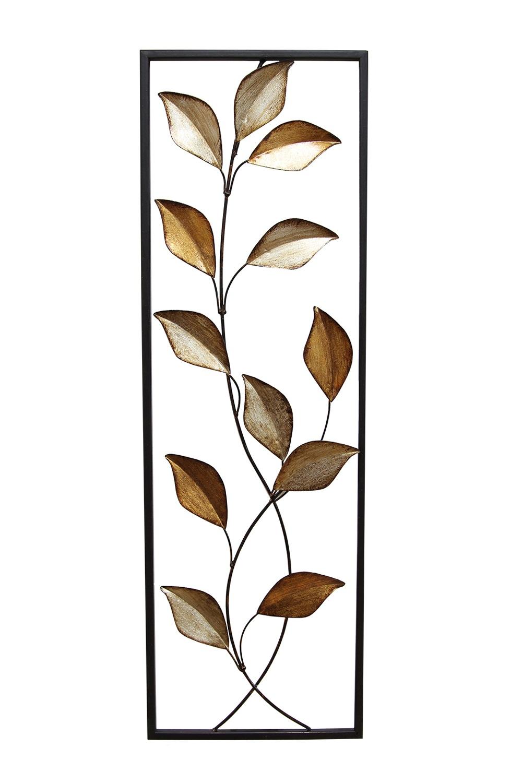 Stratton Home Decor Patina Scroll Leaf Metal Wall Art ~ Stratton home decor multi metallic leaves panel wall