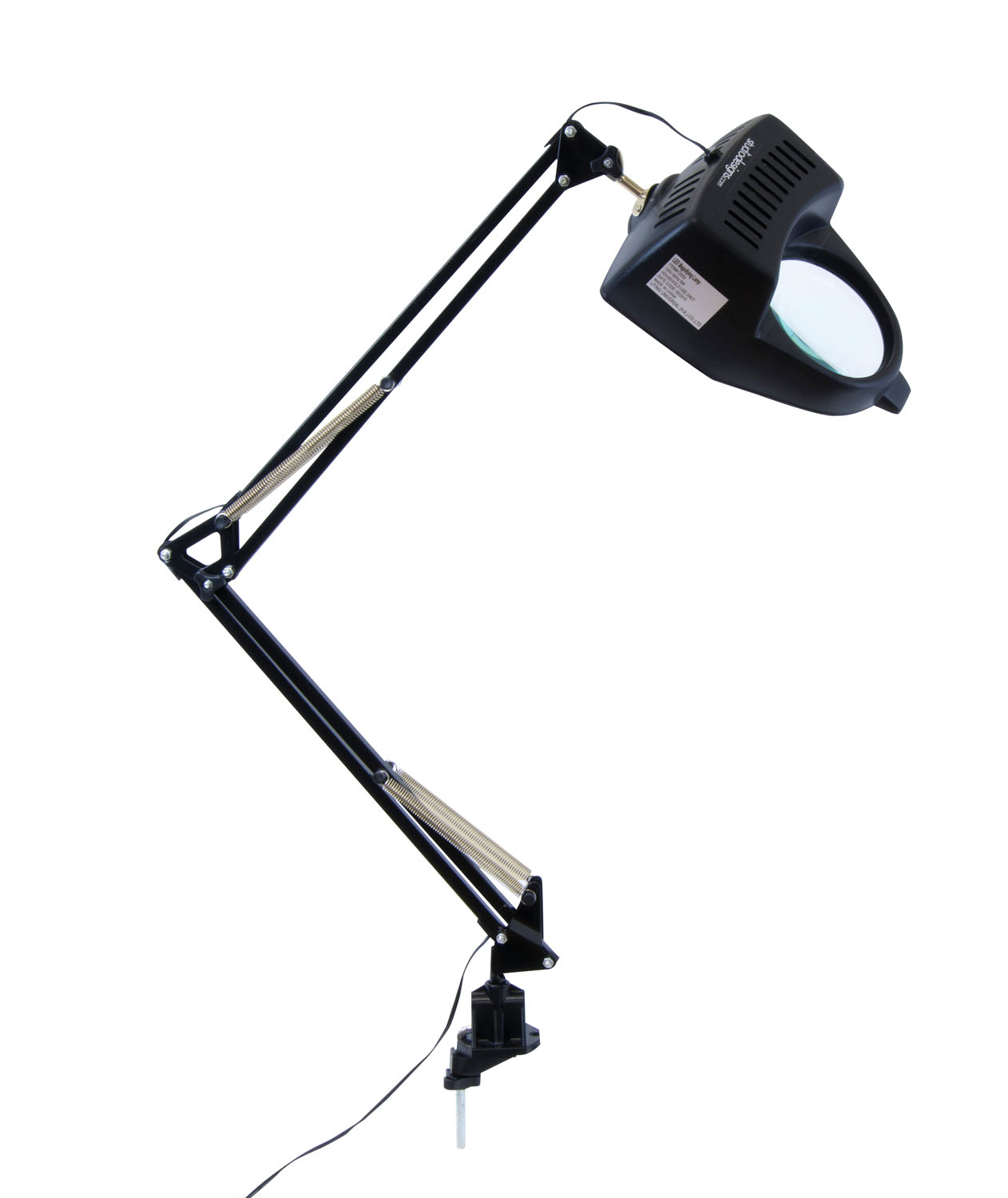 Offex Home Office Drafting Table LED Magnifying Lamp / Black
