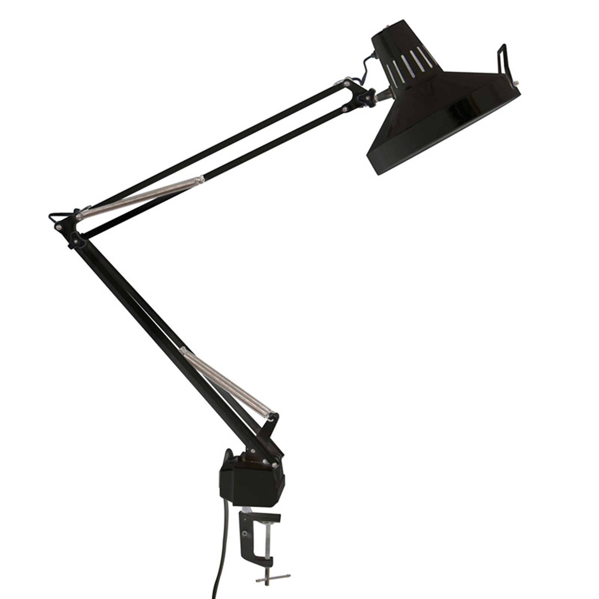 Offex Home Office Drafting Table LED Offex Combo Lamp / Black