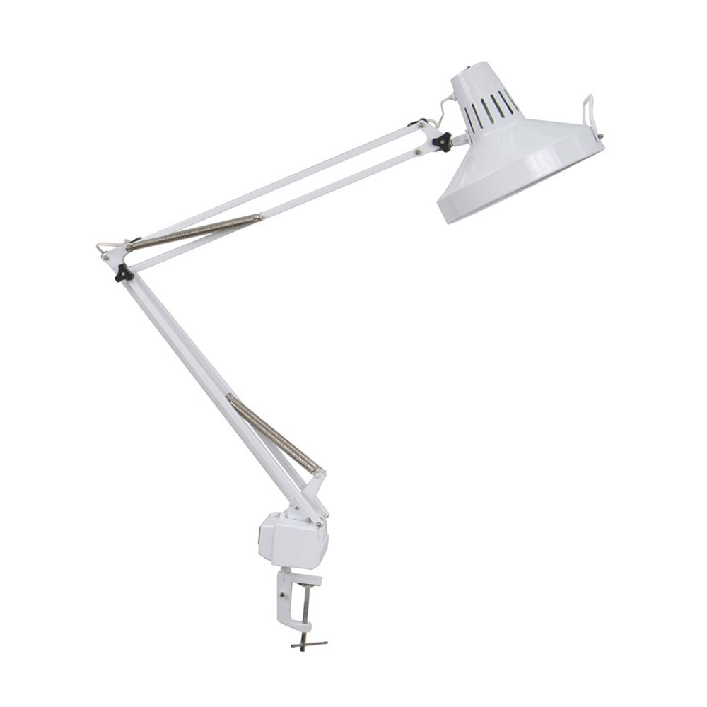 Offex Home Office Drafting Table LED Offex Combo Lamp / White