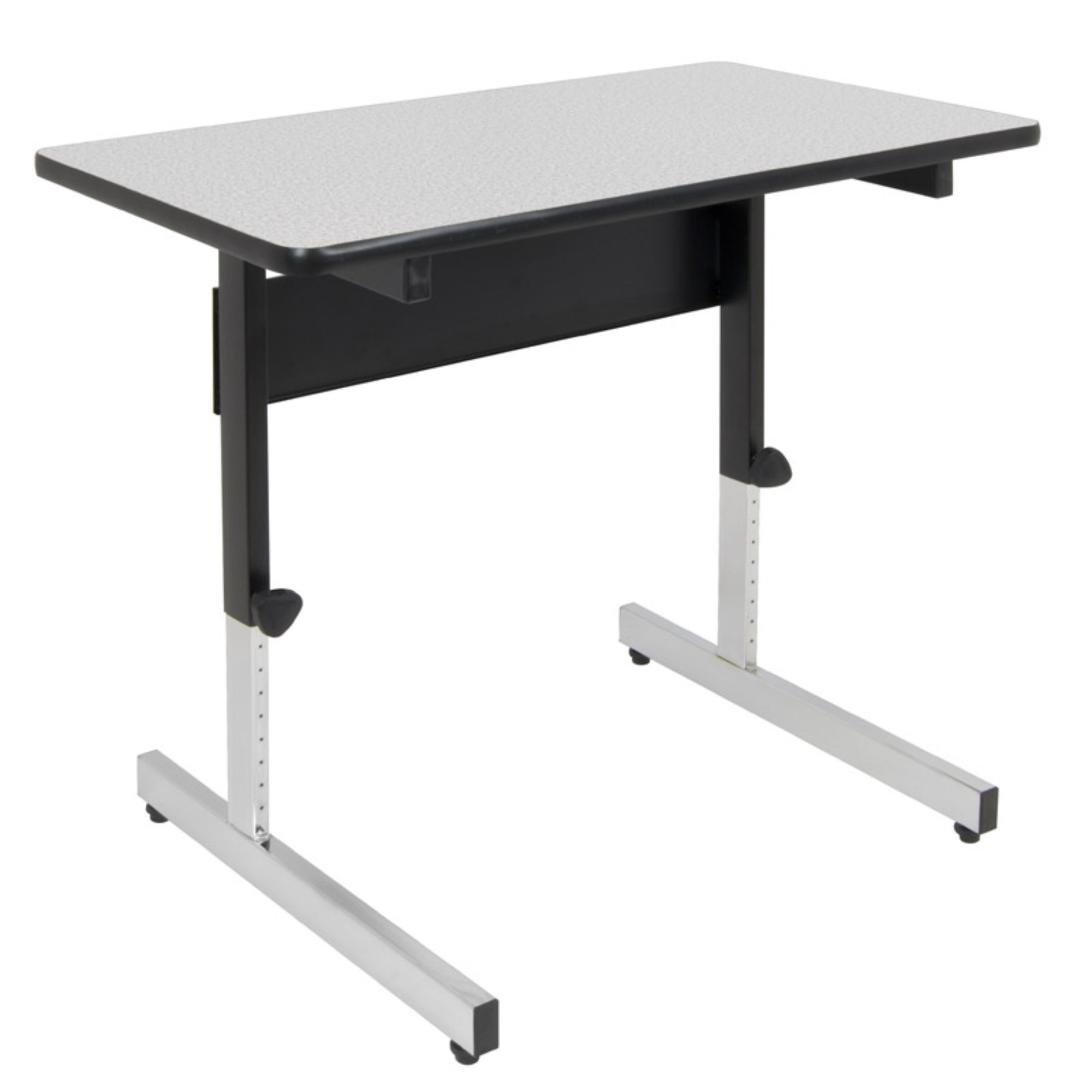 Offex Adjustable Height All Purpose Adapta Table- Black/Spatter Gray