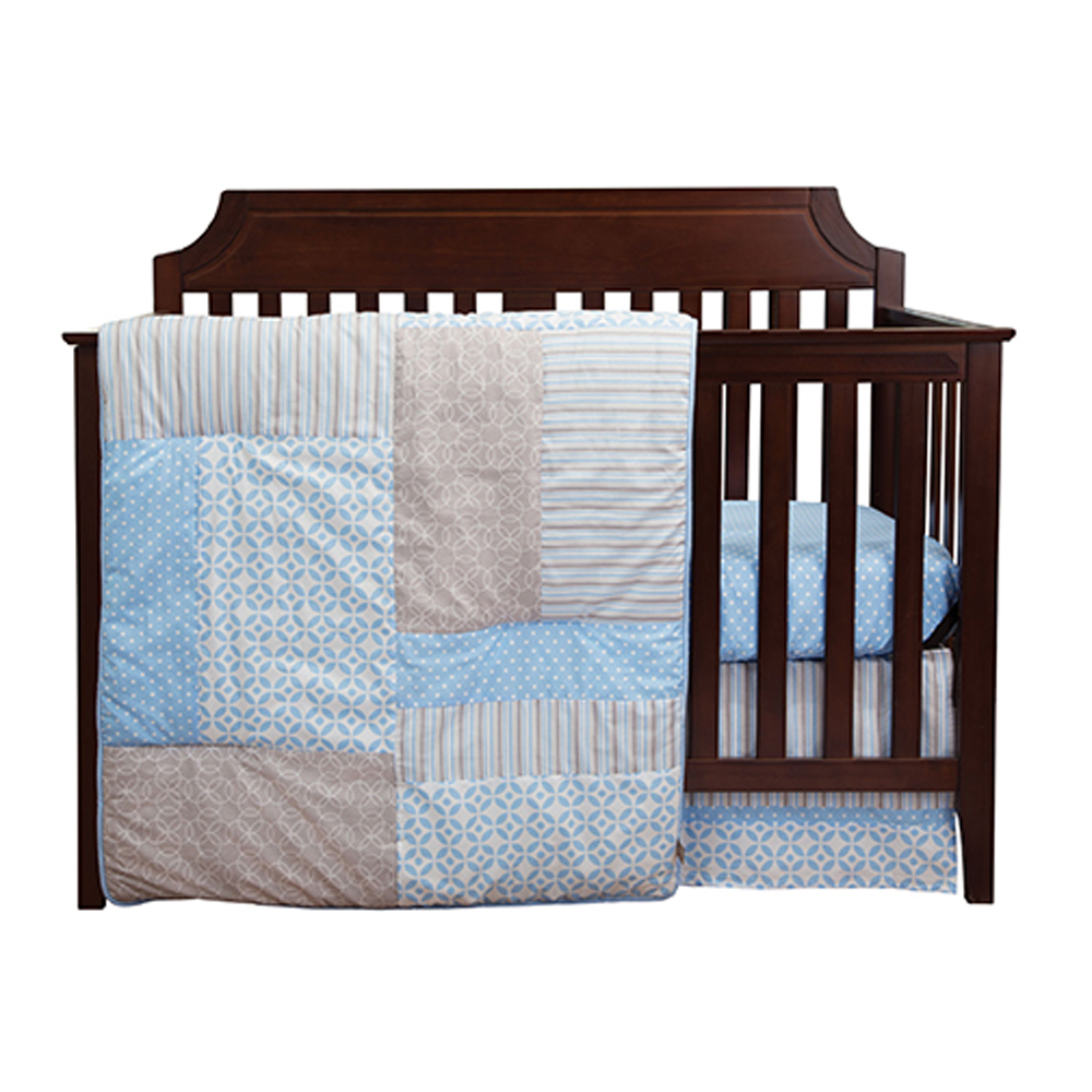 Trend Lab 3 Piece Baby Infant Nursery Sleeping Room Cradle Bassinet Mattress Decorative Logan Crib Bedding Set at Sears.com