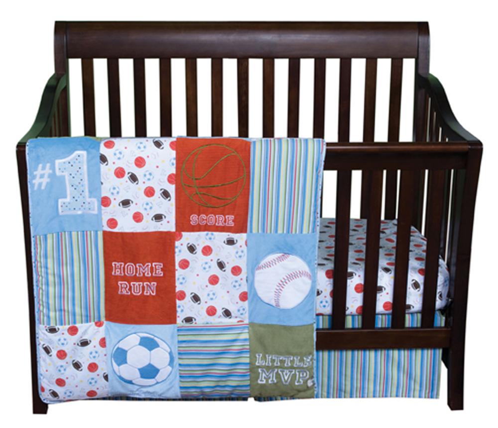 Trend Lab Little MVP/Sports - 3pc Crib Bedding Set