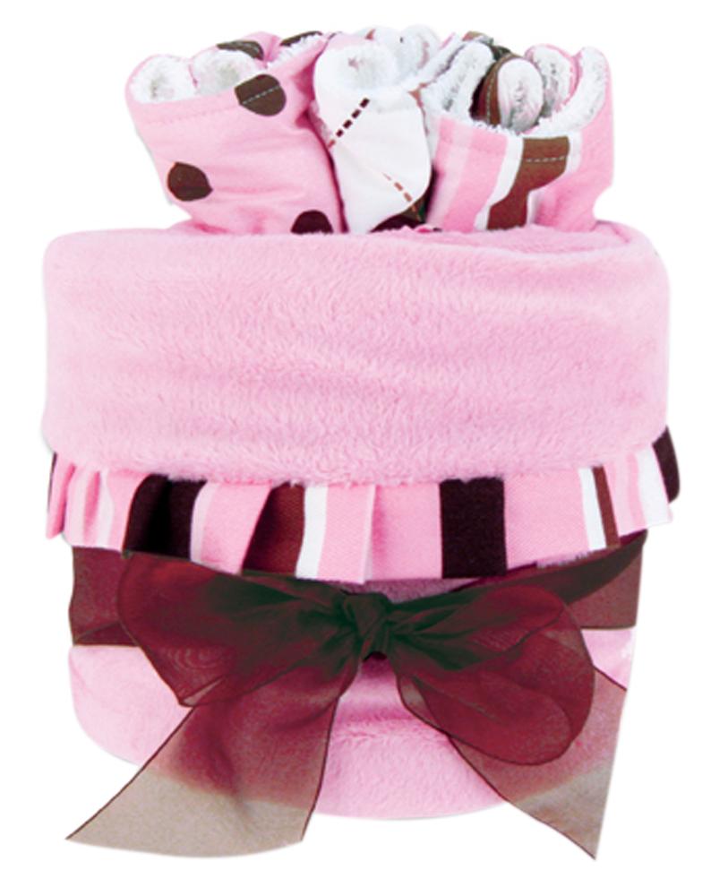 Trend Lab Kids Gift Cake Maya Stripe Baby Shower Blanket Bath Set at Sears.com