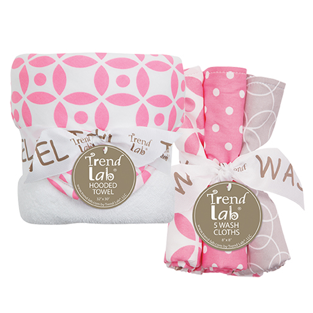 Trend Lab Nursery Kids Baby Product Decor Bouquet Set - Lily - Hooded Towel  Wash Cloth at Sears.com