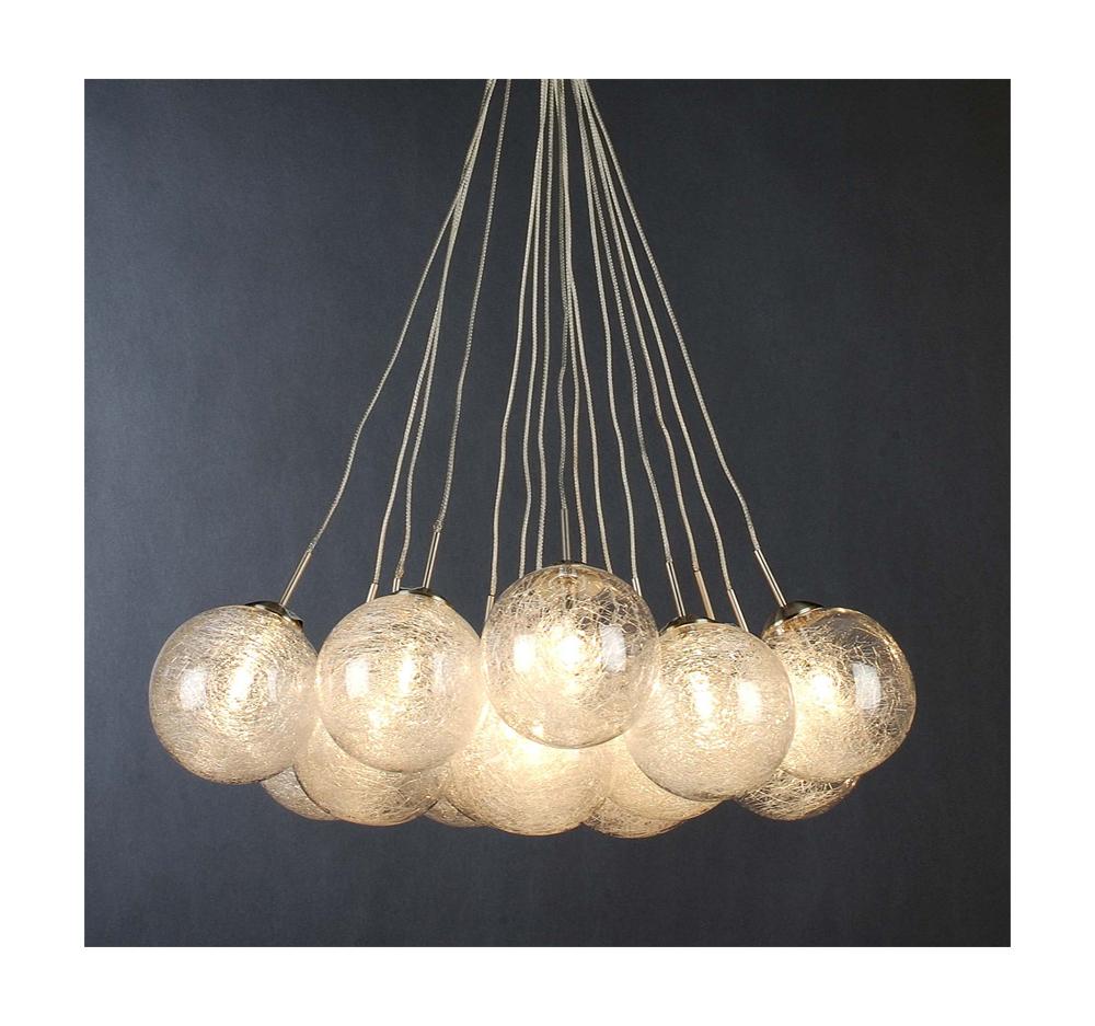 Trend Lighting Home Decorative Orb Pendant Metal/Glass Brushed Nickel Finish-Tp4476