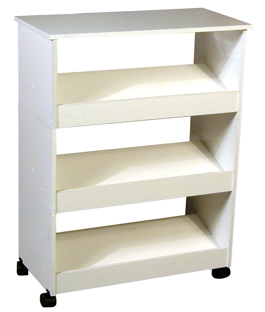 Venture Horizon Shoe Racks-3 W/Top & Casters- White at Sears.com