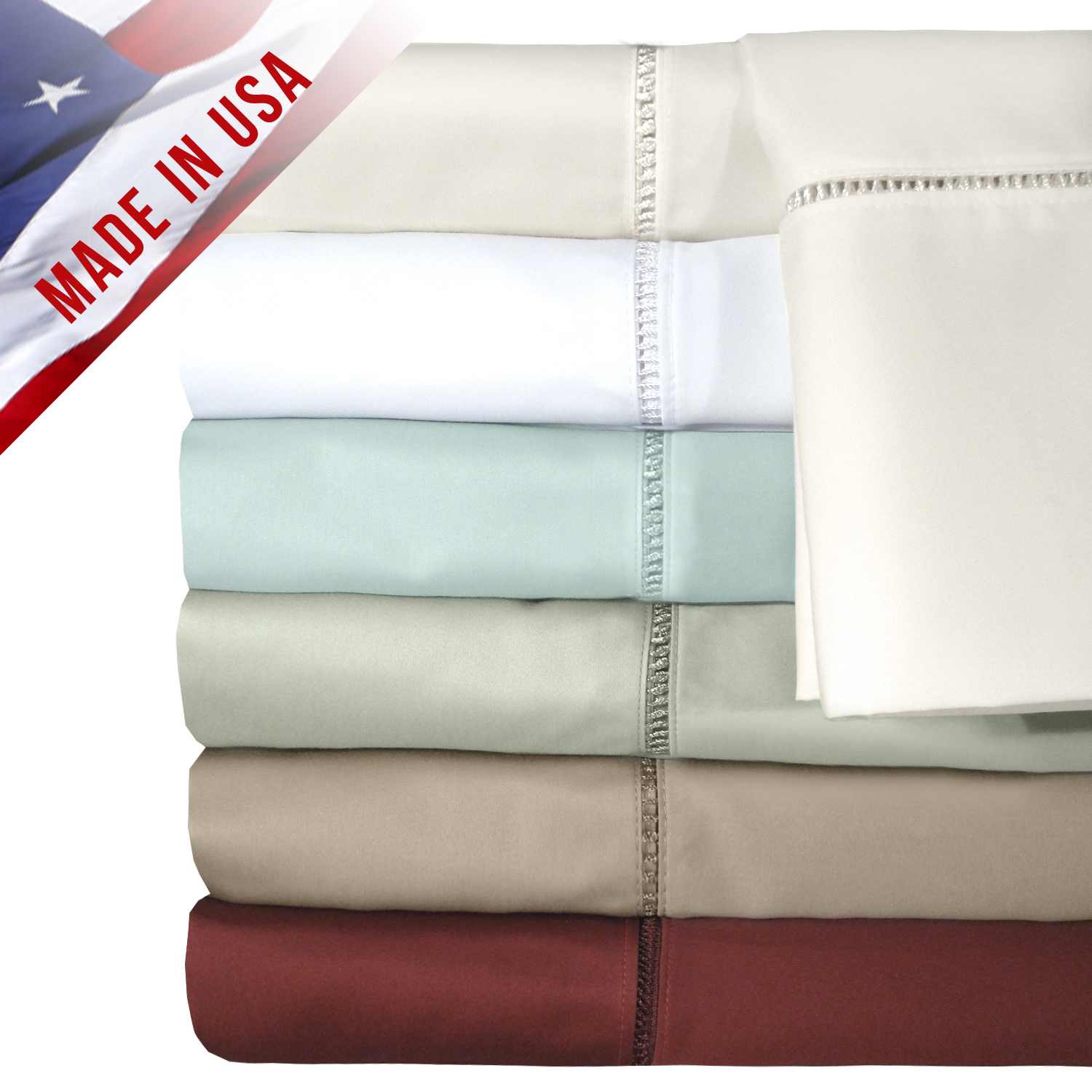 Veratexinc Home Decorative Bedding Collection Legacy Collection 500Tc Sheet Set D.King Merlot at Sears.com