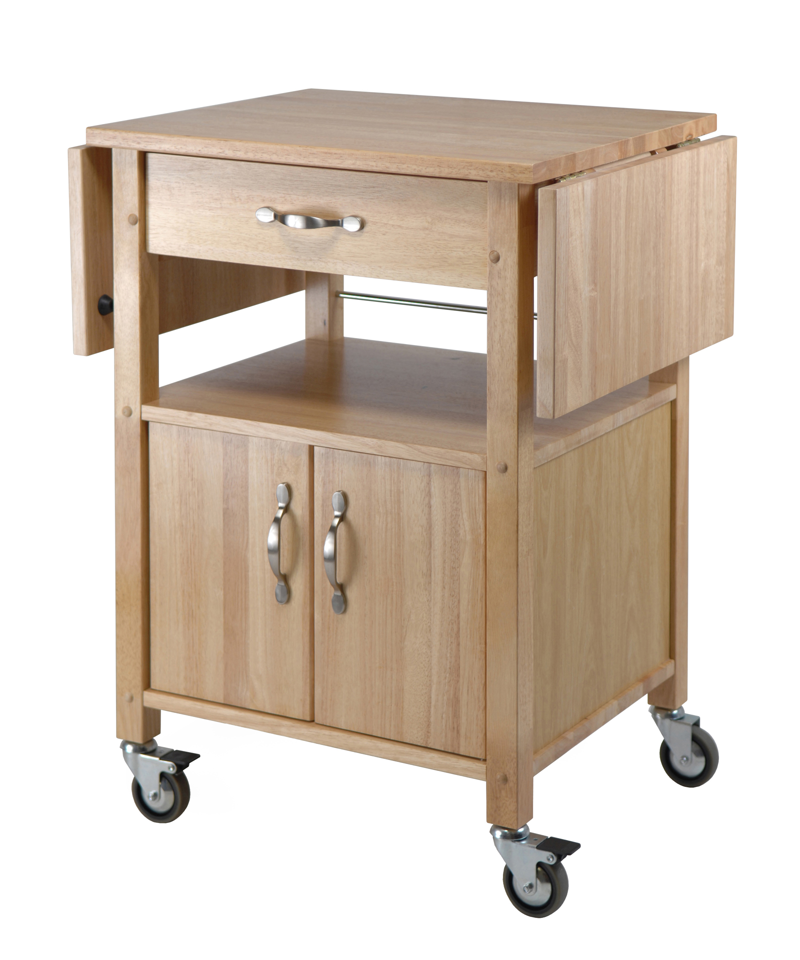 Winsome Kitchen Cart, Double Drop Leaf, Cabinet with shelf at Sears.com