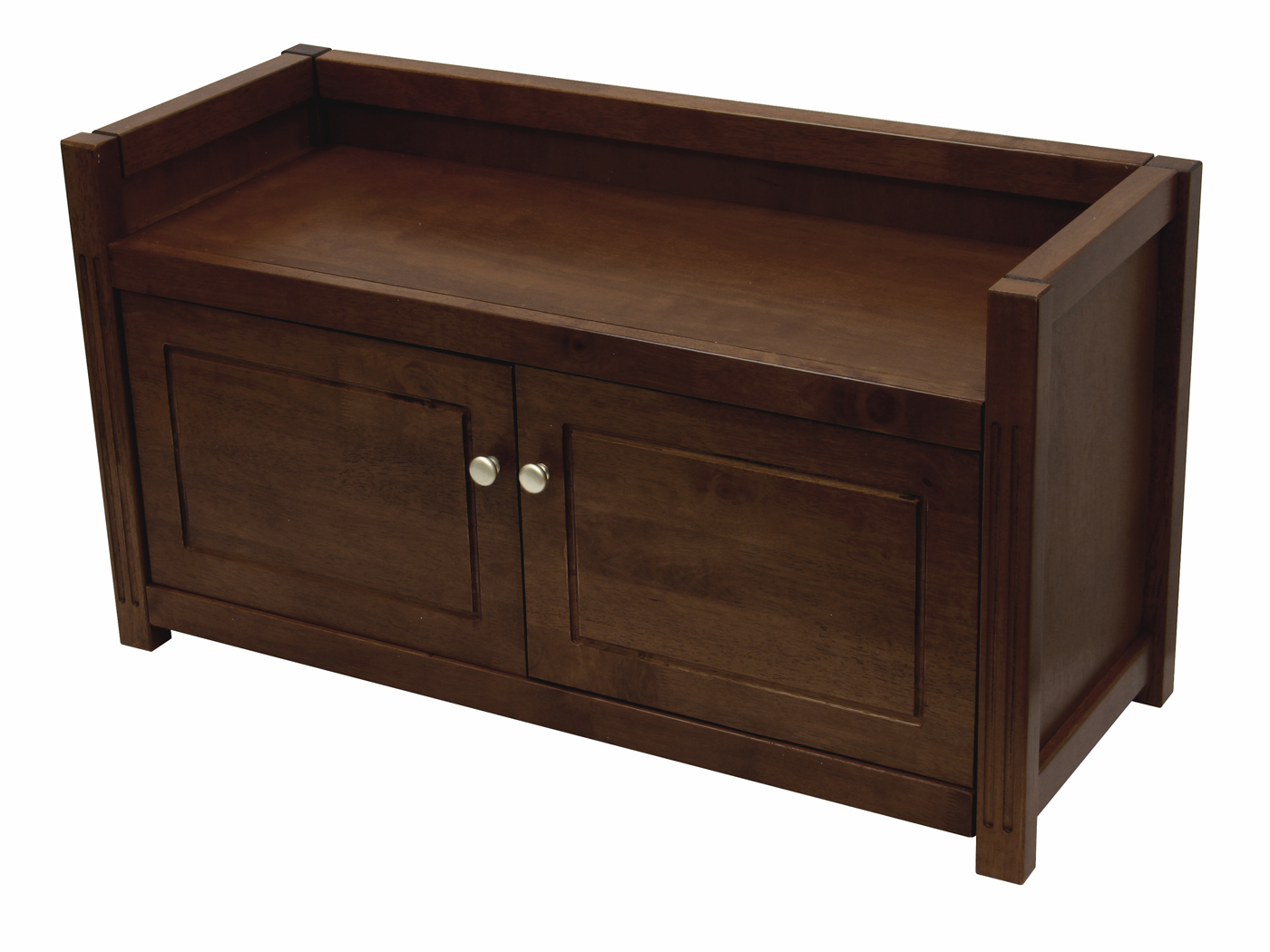 Winsome Wood Regalia Seating Study Bench With Storage Shelf Lockable Cabinet