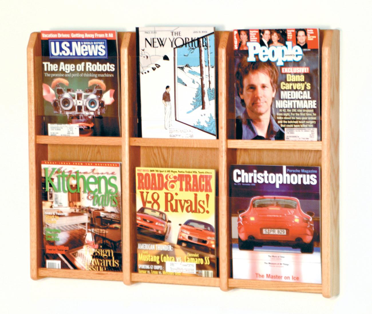 Offex Divulge 6 Magazine Wall Display Light Oak