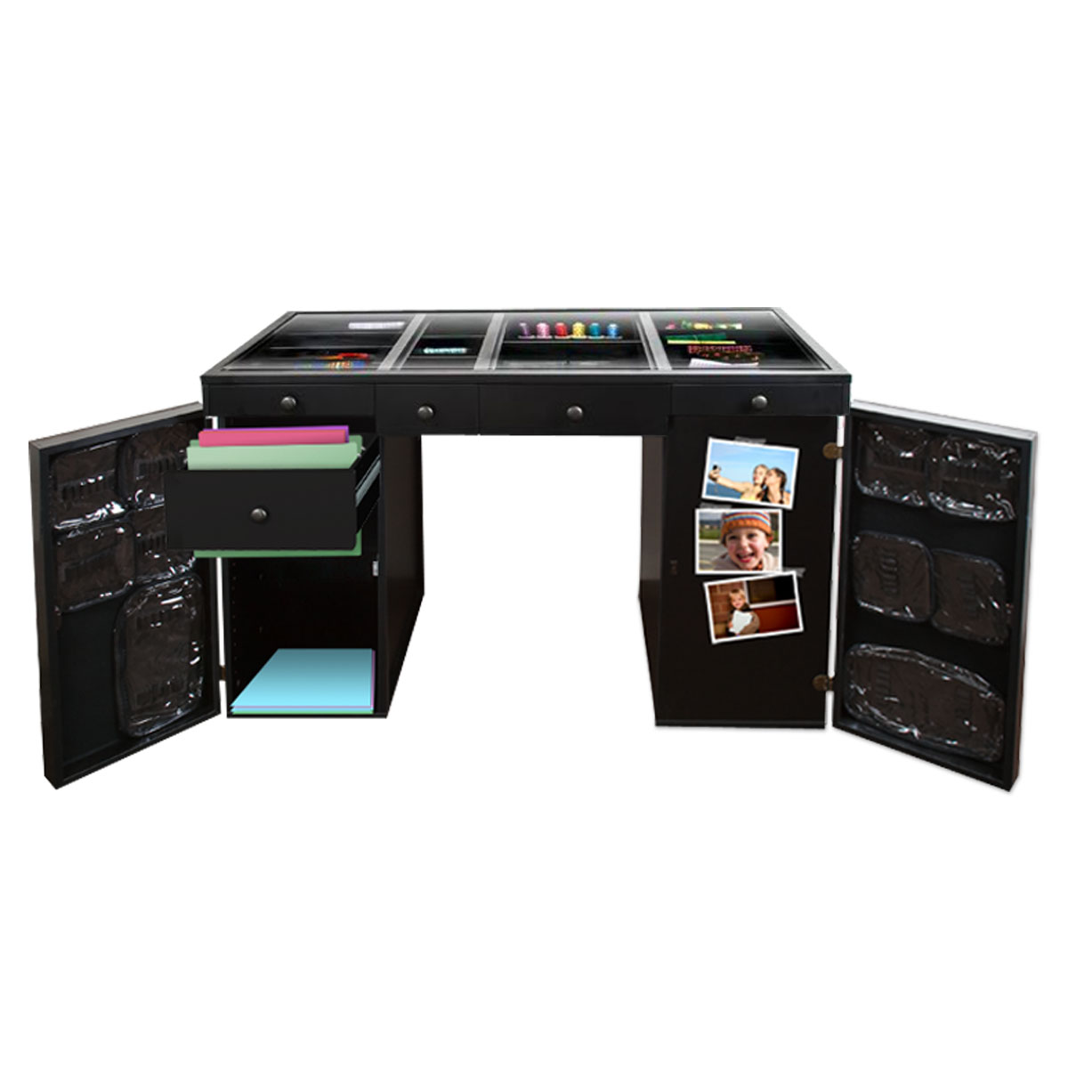 Original Scrapbox Ez View Black Craft Desk (base 4&1 )  Ebay. Guidecraft Desk To Easel Art Cart. Ikea Two Person Desk. Ikea Desk Base. Bamboo Table Top. Desk Extension For Standing. File Cabinet Drawer. Jewelry Safe With Drawers. Three Drawer Lateral File Cabinet