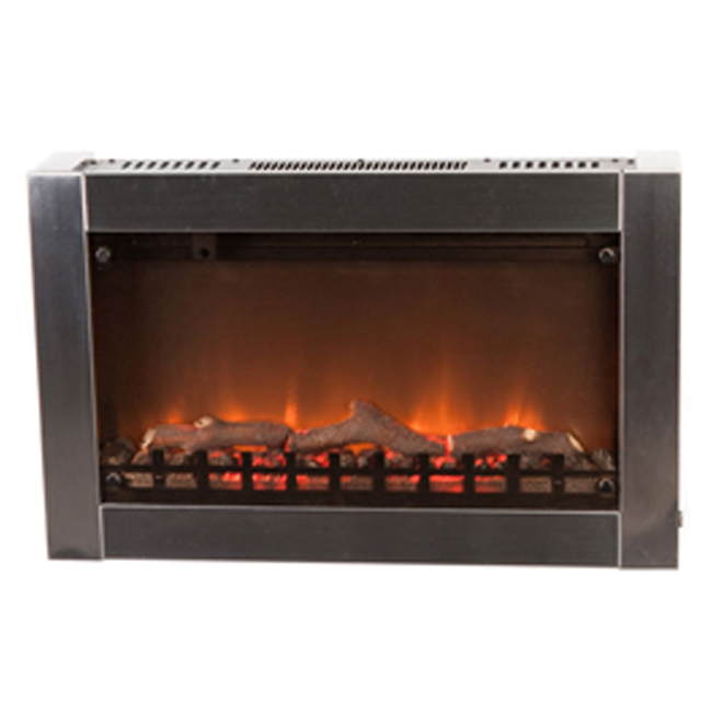 Outdoor Indoor Patio Wall Mounted Electric Fireplace Stainless Steel Glass Front Ebay