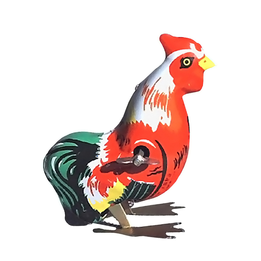 Collectible Tin Toy - Hopping Rooster - 3