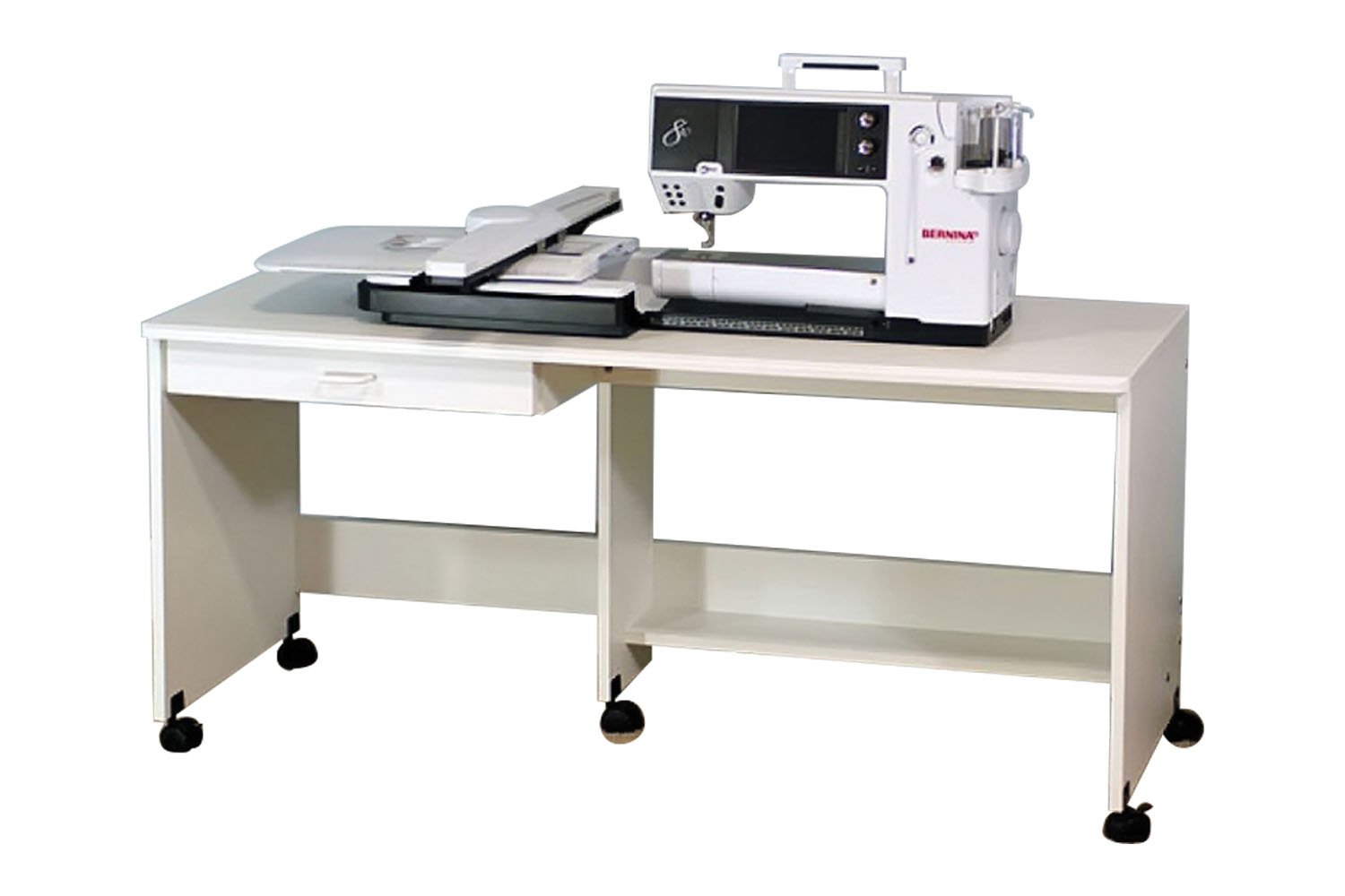 Model 810 sewing table class and display table in white for Html display table
