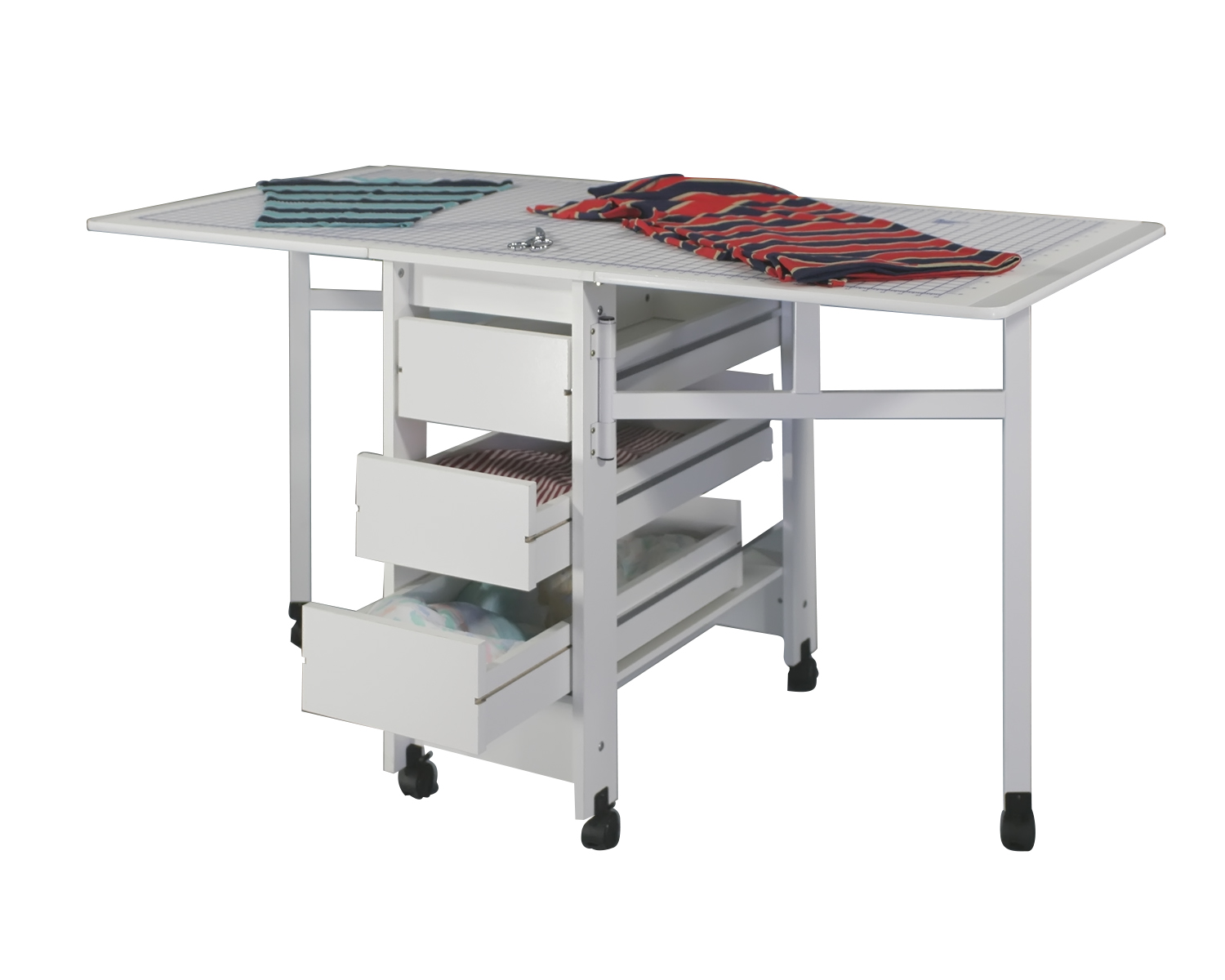 White Sewing Craft Table