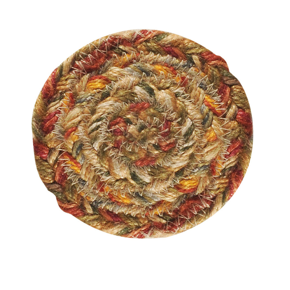 Homespice Decor Harvest Jute Braided Coaster 4\