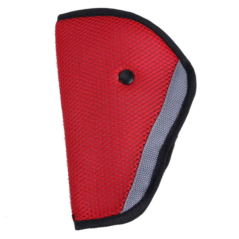 Triangle Kids Automobile Seat Belt Adjuster - Red
