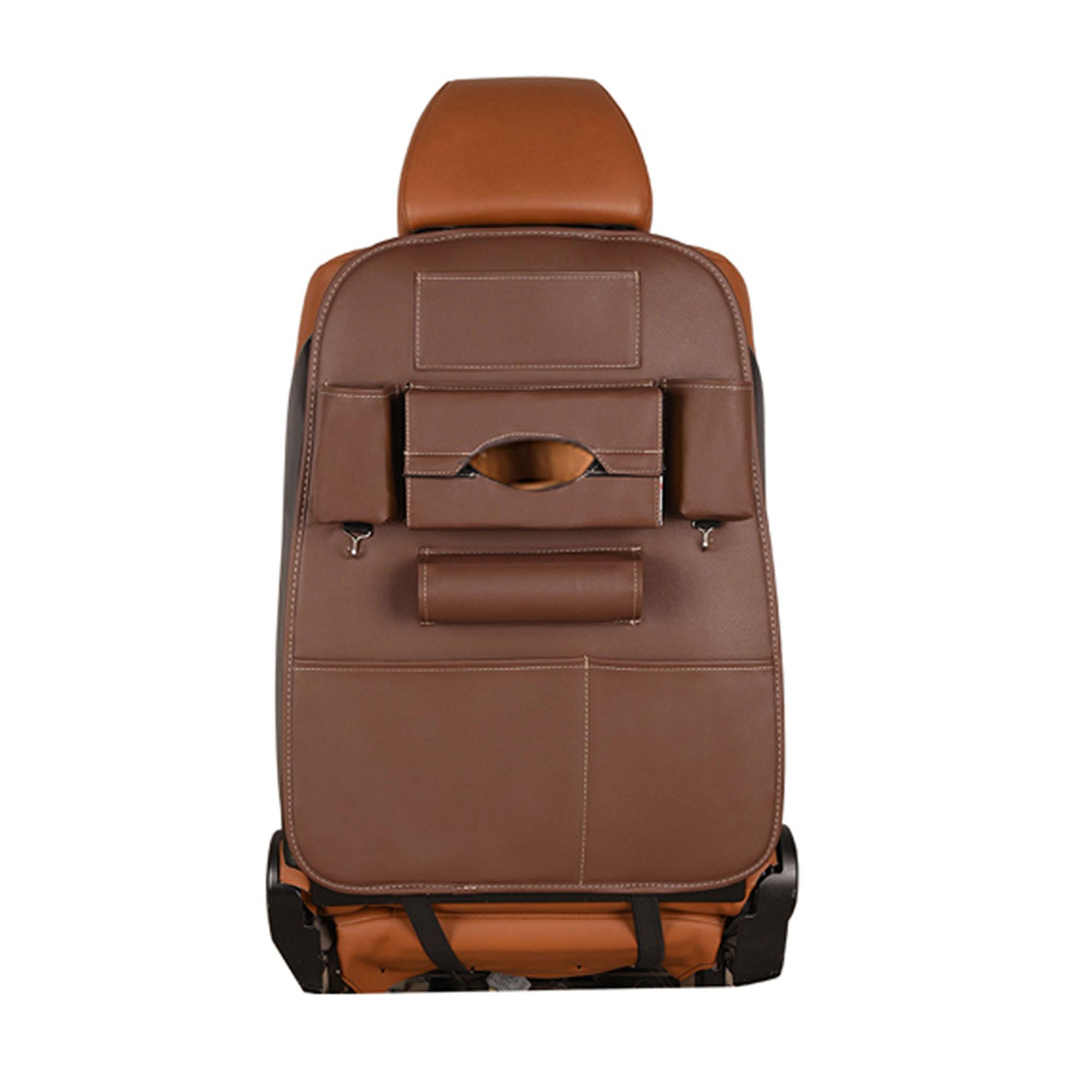 Car Seat Back Storage Bag Organizer Travel Box Pocket - Brown