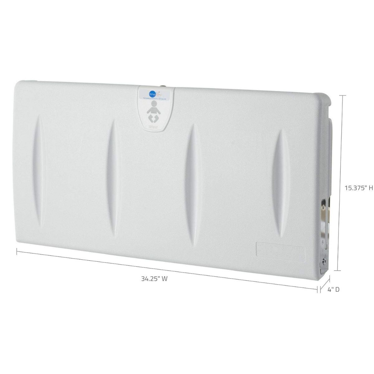 Karma Baby Wall Mounted Commercial Horizontal Diaper Changing Station - White