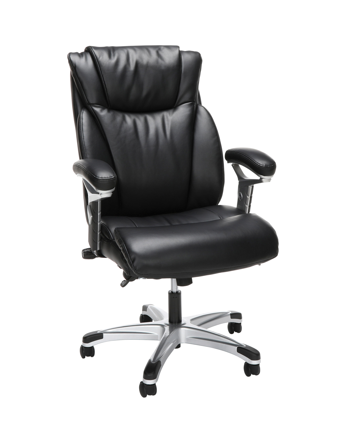 Model ESS-6020 Essentials by OFM Executive Office Chair with Arms - Black/Silver