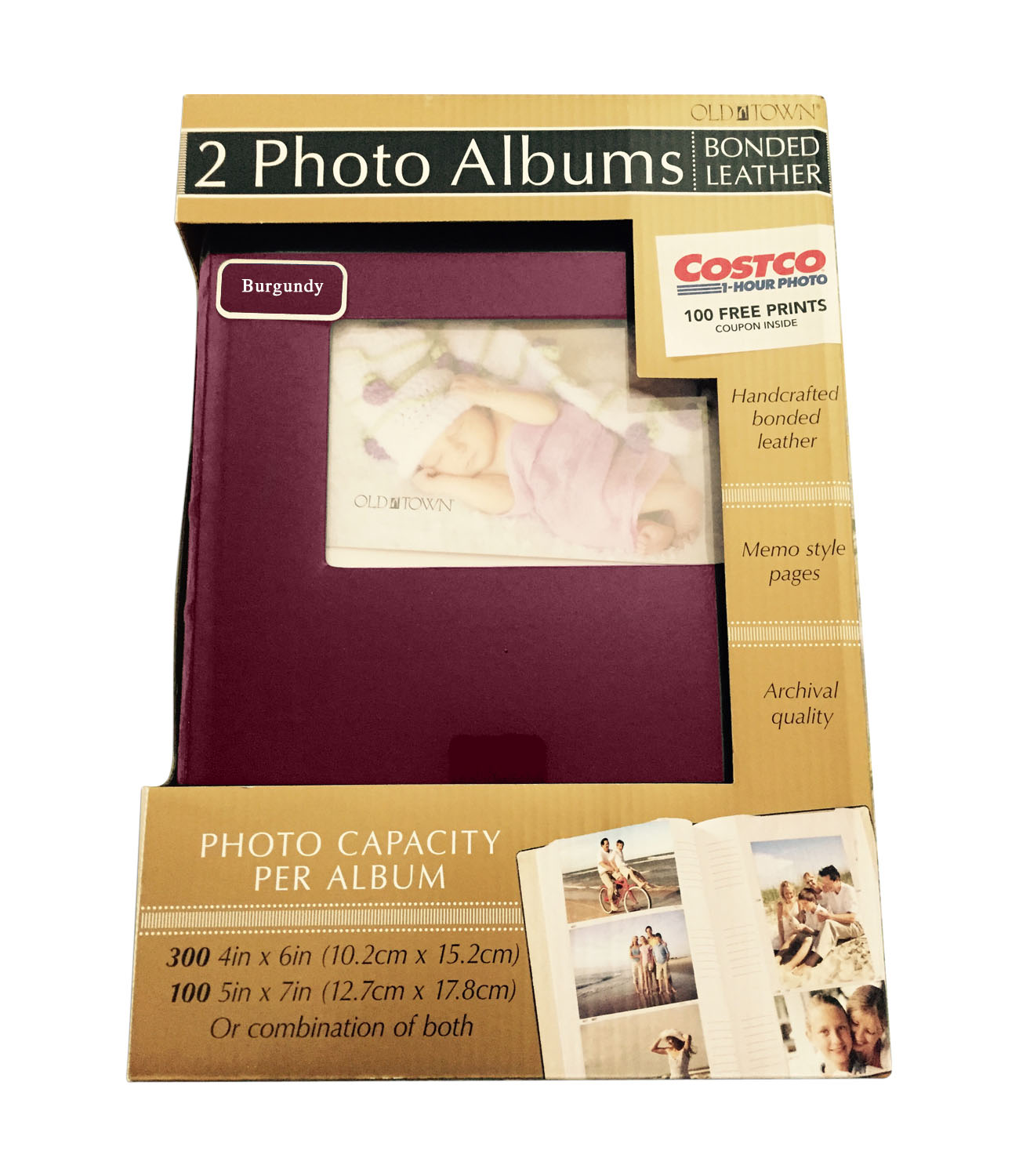 Memory Stor Scrapbook Album Bonded Leather With Large Display Window