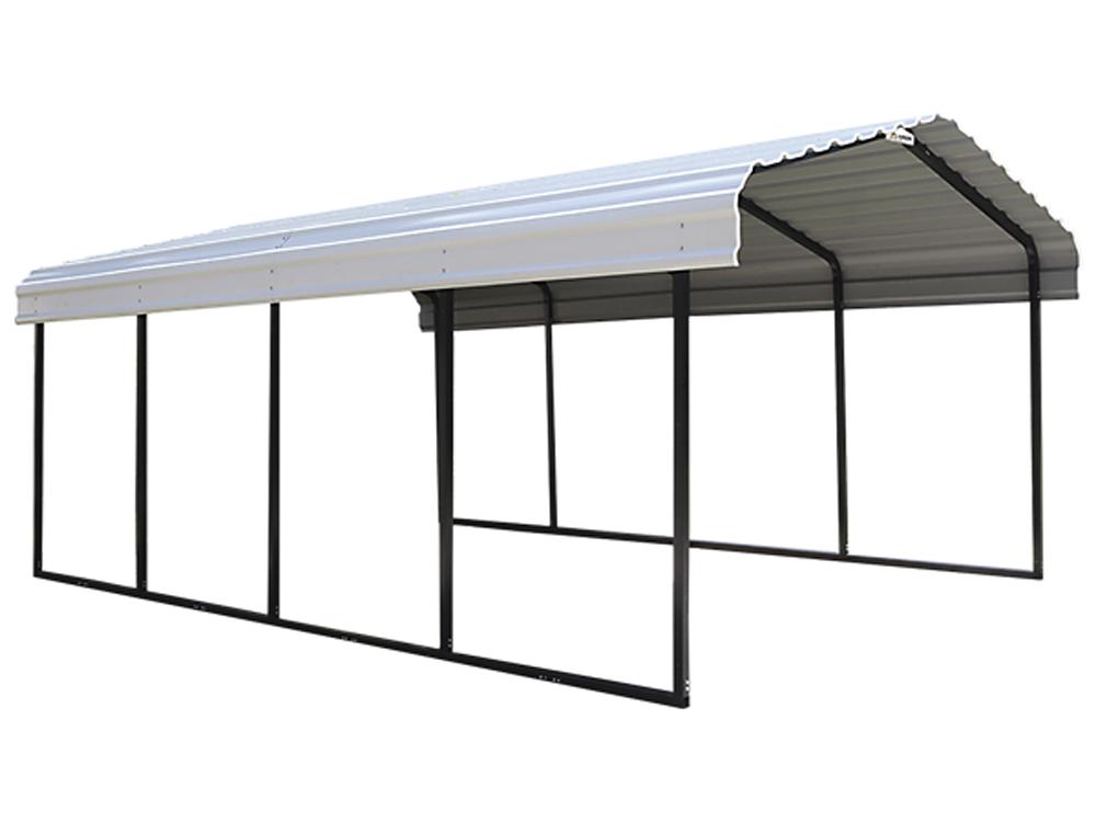 Arrow Carport 29 Gauge Galvanized Steel Roof Panels Square Tube