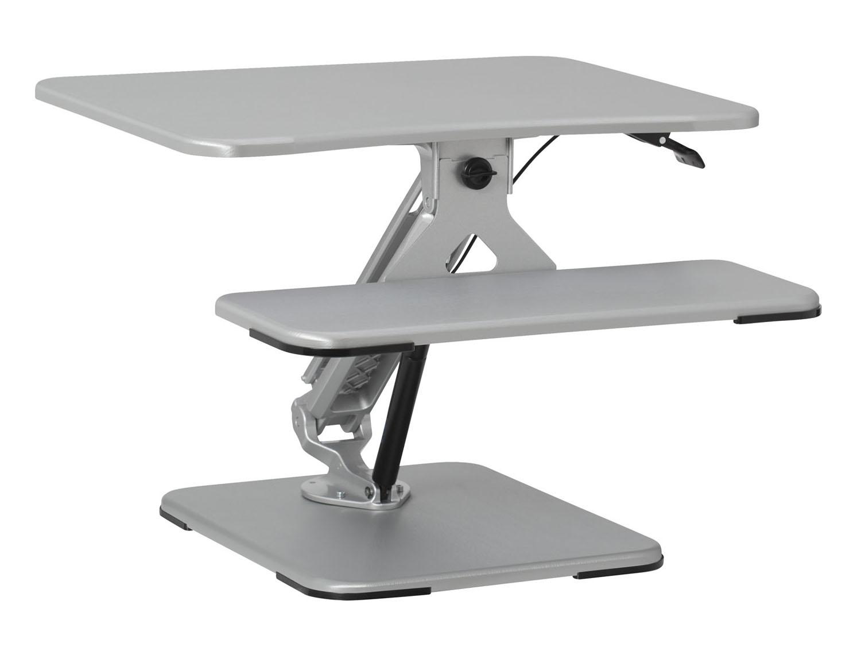 Studio Lift 26 Quot Height Adjustable Desk In Silver